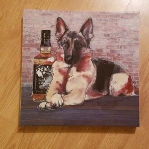 Jack Daniels and Shepherd Wall decor